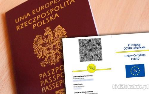 Zaświadczenie o szczepieniu Covid 19, Paszport, Unijny Certyfikat Covid, Negatywny test